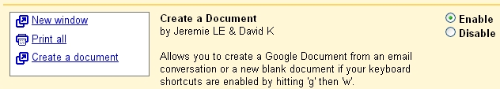 Gmail to Google Docs