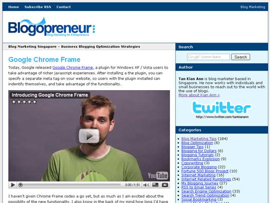 blogopreneur new theme